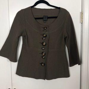 Due per due asymmetrical button up blazer s